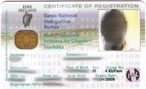 Irish Residence Card